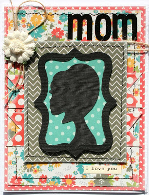 mothers day silhouette card