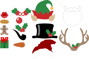 free christmas photo booth props svg files bits pieces paper lab