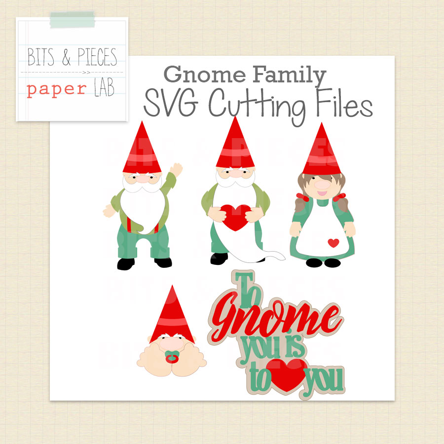 Gnome SVG Cutting Files – Bits & Pieces Paper Lab