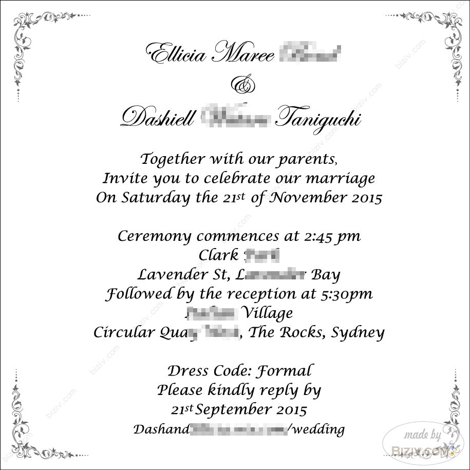 wedding invite templates wedding invite template wedding invitation templatesbiziv promotional products Wedding invitations