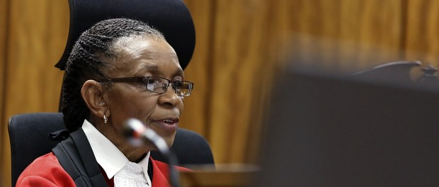 Judge Masipa delivers her verdict in the trial of Olympic and Paralympic track star Pistorius at the North Gauteng High Court in Pretoria
