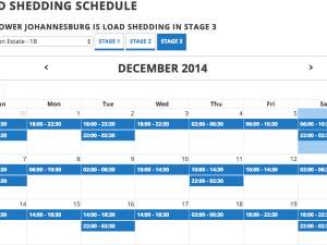 The load shedding schedule for Houghton Estate. City Power's info is updated for each of the Johannesburg metropole's suburbs.