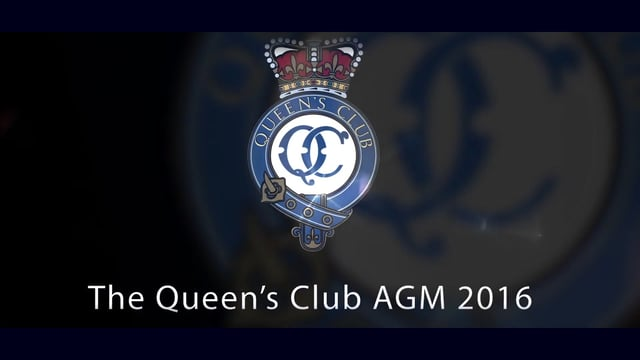 Queens Club AGM 2016