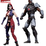 "DC Collectibles 3.75"" Harley Quinn and Cyborg"