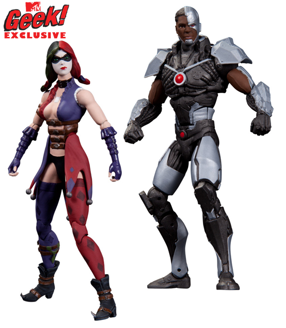 DC Collectibles 3.75&quot; Harley Quinn and Cyborg