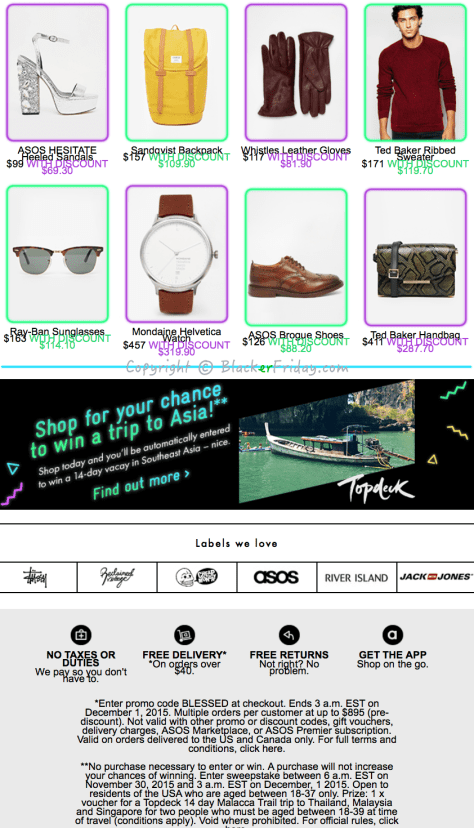 ASOS Cyber Monday Ad Scan - Page 2