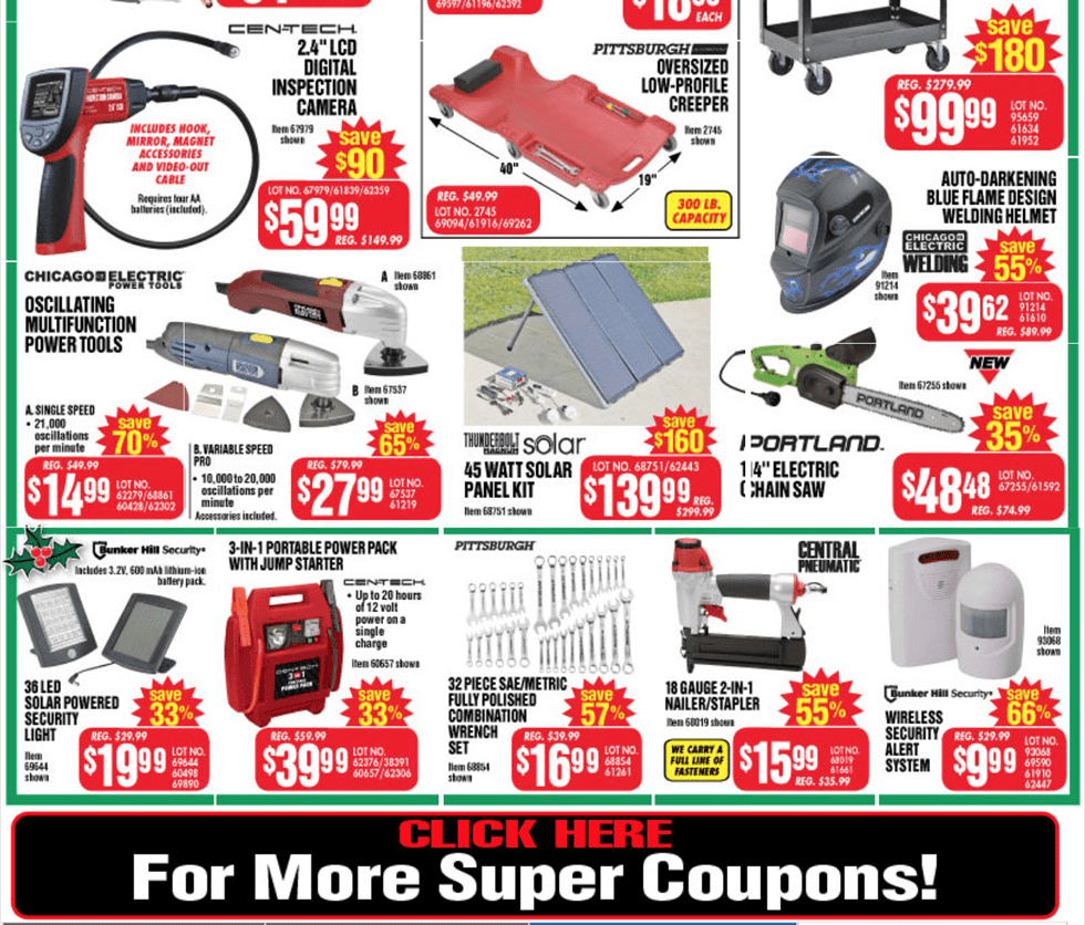 harbor freight tools black friday 2016 sales ad scan cyber monday 2016. Black Bedroom Furniture Sets. Home Design Ideas
