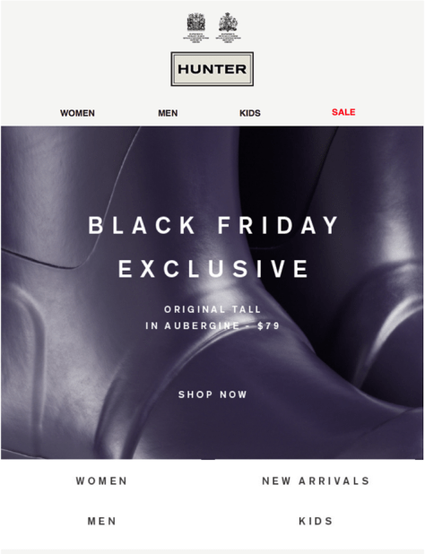 hunter boots black friday ad scan - page 1