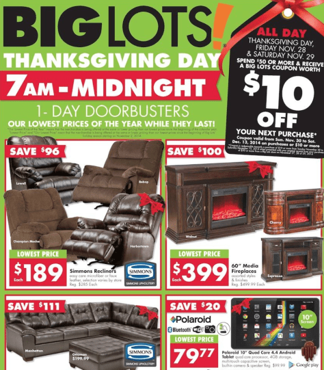 big lots black friday ad scan - page 1