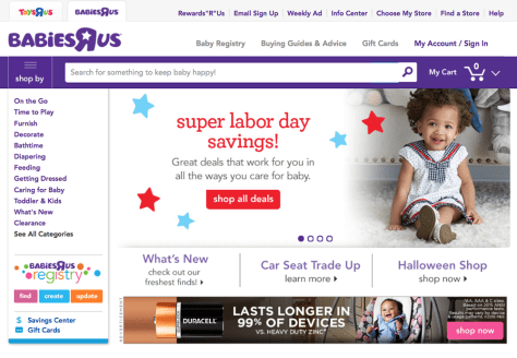 Babies R Us Labor Day Sale 2015 - Page 1