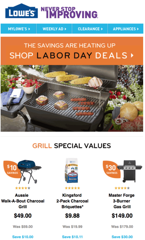 Lowes Labor Day Sale - Page 1