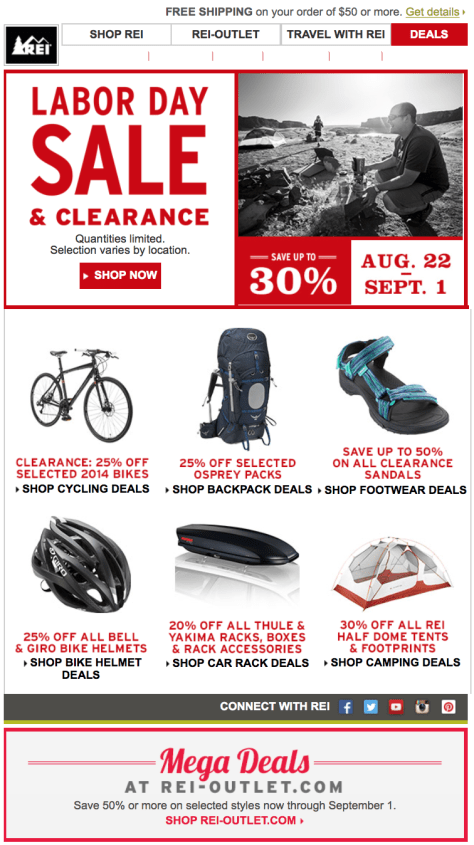 REI Labor Day Sale - Page 1