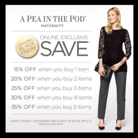 A Pea in the Pod Black Friday Ad - Page 1