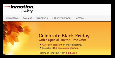 Inmotion Hosting Black Friday Ad - Page 1