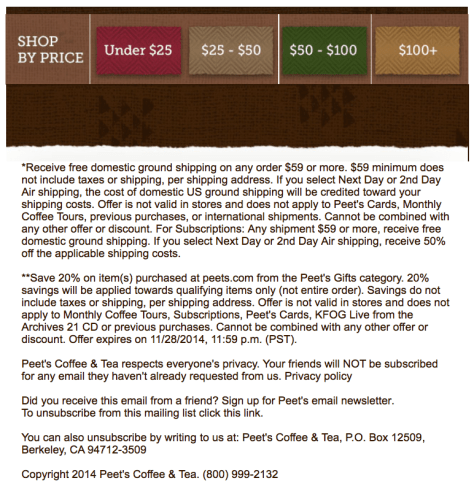 Peets Coffee Black Friday Ad - Page 2