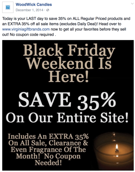 Woodwick Candle Black Friday Ad - Page 1