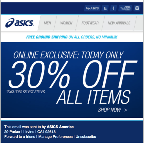 Asics Cyber Monday Ad - Page 1
