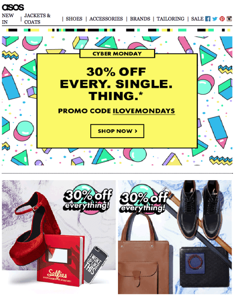 Asos Cyber Monday Ad Scan - Page 1