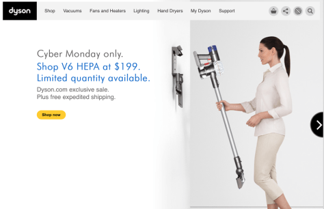 Dyson Cyber Monday 2015 Ad - Page 1
