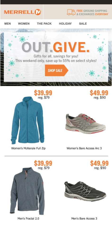 Merrell Black Friday Ad Scan - Page 1