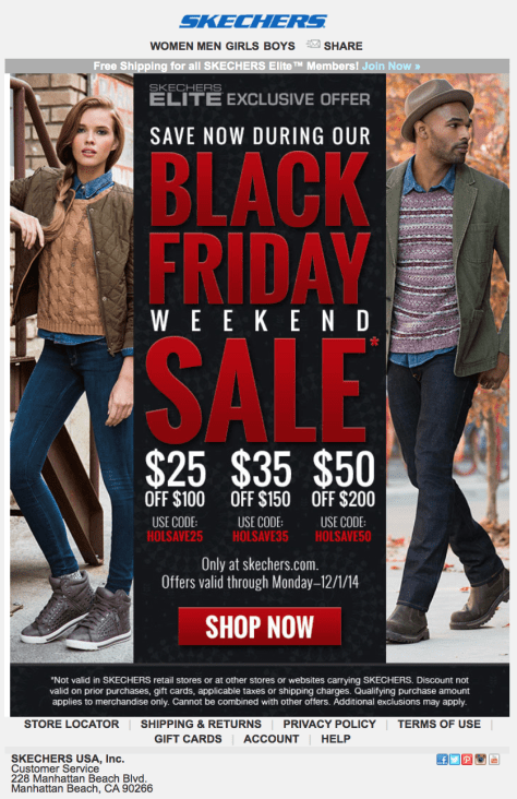 Skechers Black Friday Ad - Page 1
