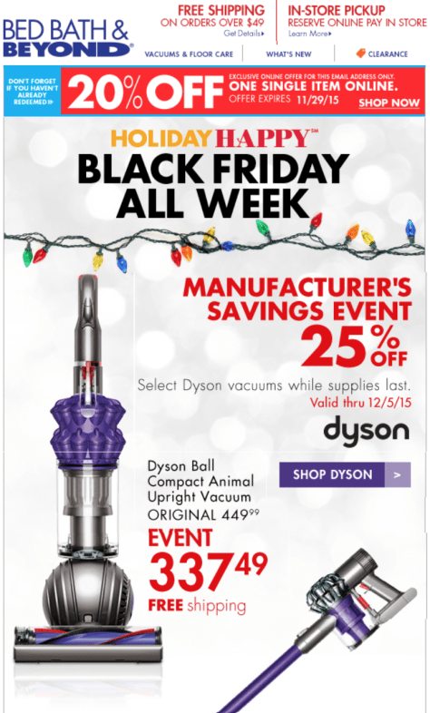Bed Bath Beyond Black Friday 2015 Ad - Page 1