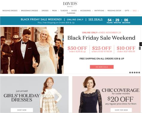 Davids Bridal Black Friday 2015 Ad - Page New