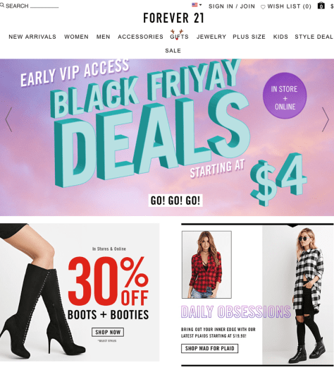 Forever 21 Black Friday 2015 Ad - Page 1
