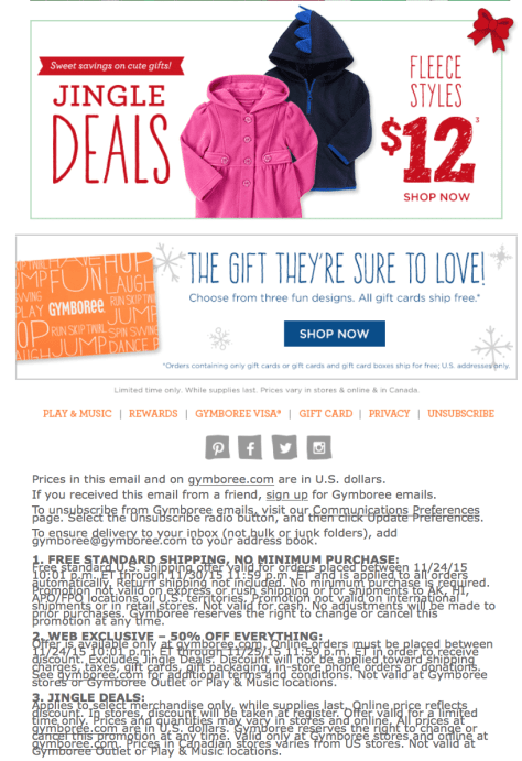 Gymboree Black Friday 2015 Flyer - Page 2