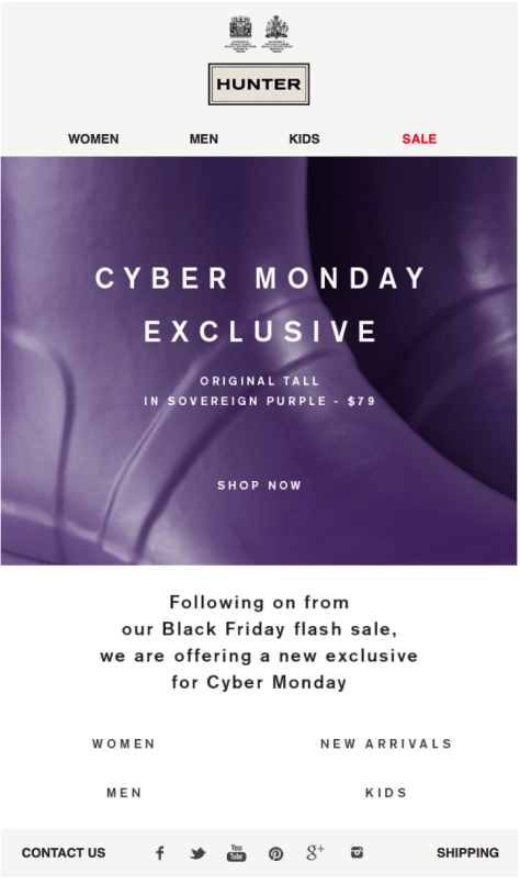 Hunter Cyber Monday Ad - Page 1