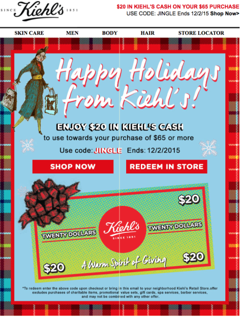 Kiehls Cyber Monday 2015 Ad - Page 2