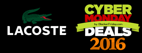 Lacoste Cyber Monday 2016