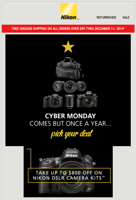 Nikon Cyber Monday Ad - Page 1
