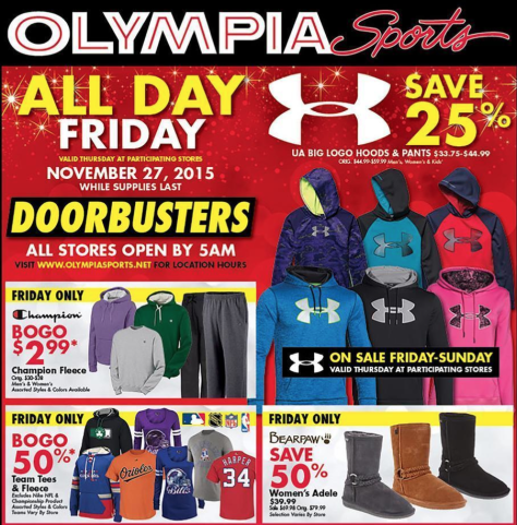 Olympia Sports Black Friday 2015 Ad - Page 1
