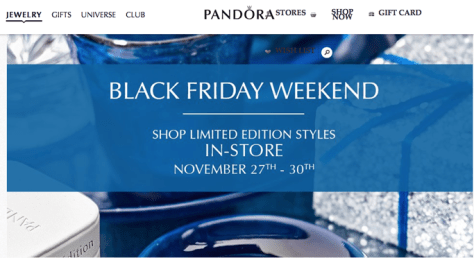 Pandora Black Friday 2015 Flyer - Page 1