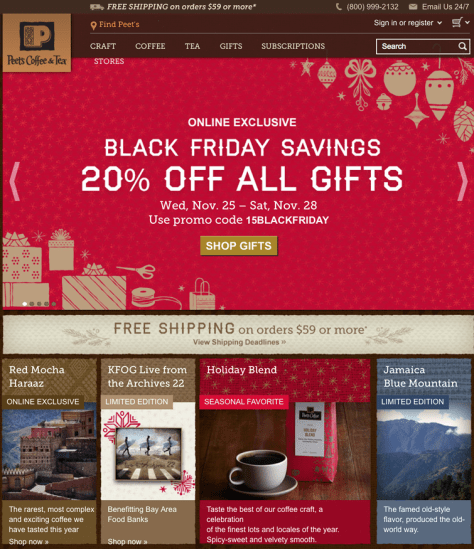 Peets Black Friday 2015 Flyer - Page 1