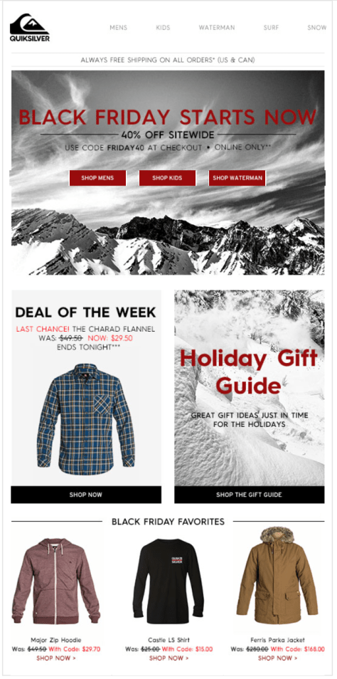 Quiksilver Black Friday Ad - Page 1