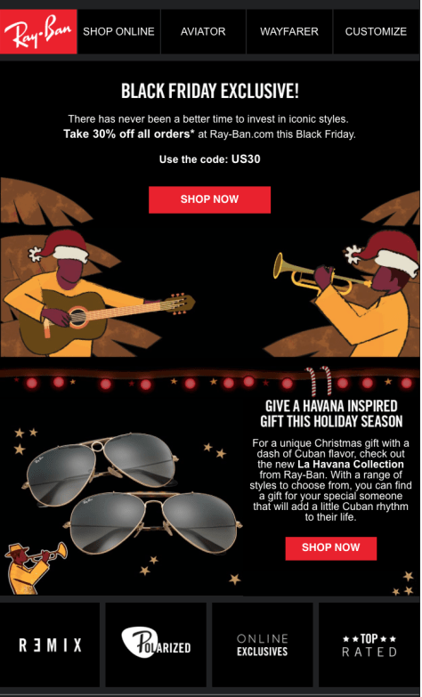 Ray Ban Black Friday 2015 Flyer - Page 1
