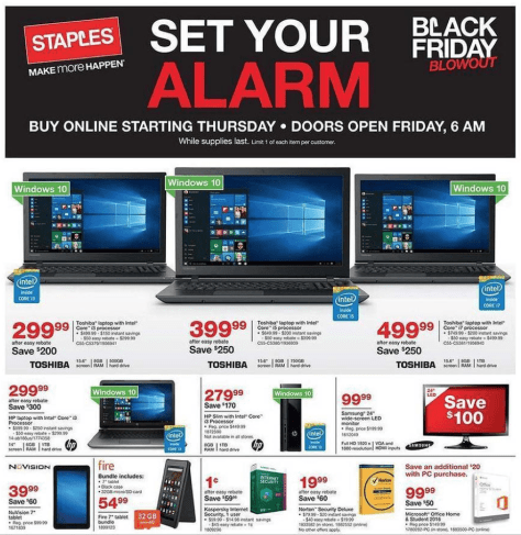 Staples Black Friday 2015 Ad - Page 1