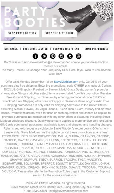 Steve Madden Cyber Monday Ad - Page 2