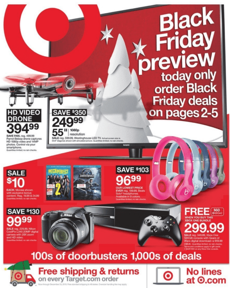 Target Black Friday 2015 Ad - Page 1