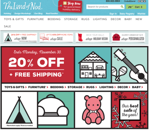 The Land of Nod Black Friday 2015 Flyer - Page 1