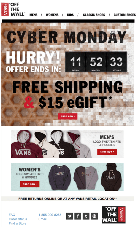 Vans Cyber Monday Ad - Page 1