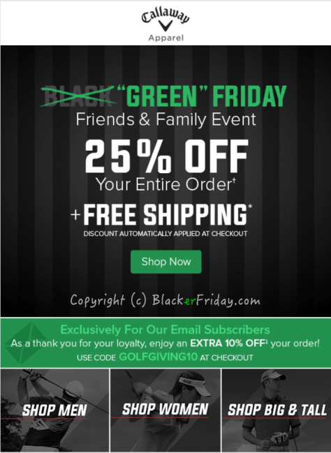 Callaway Black Friday Ad Scan - Page 1