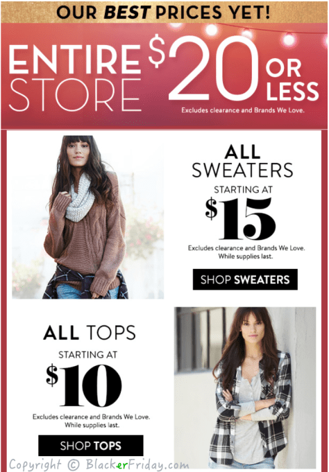 Charlotte Russe Black Friday Ad Scan - Page 2