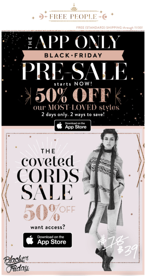 Free People black friday sale - page 1