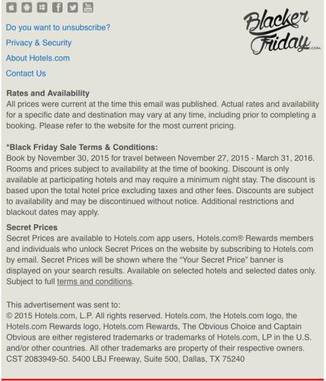 Hotels com Black Friday Sale - Page 2