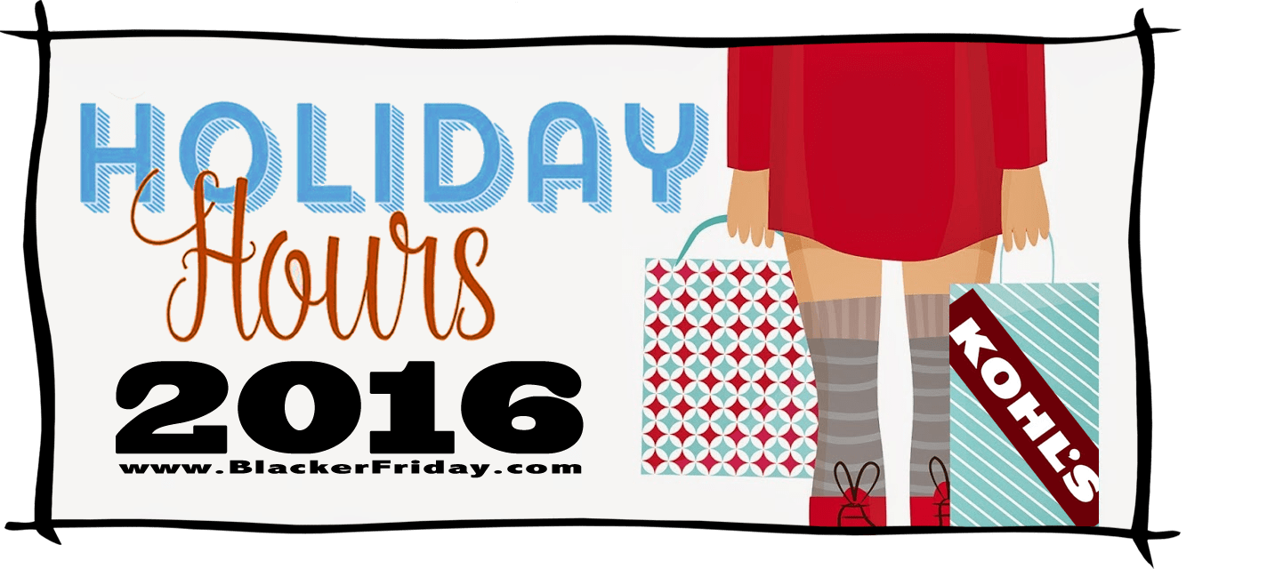 Kohls Black Friday Store Hours 2016