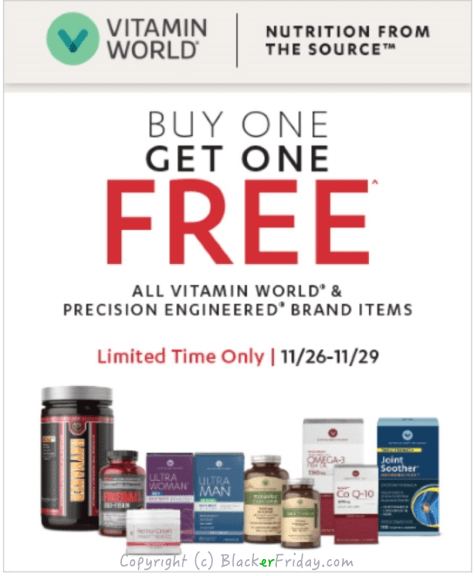 Vitamin World Black Friday Ad Scan - page 1