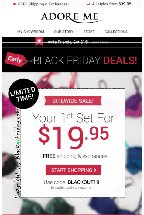 Adore Me Black Friday Ad - Page 1